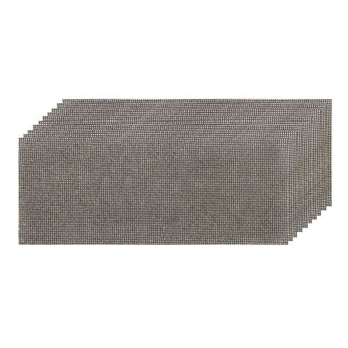 10 Pack Silverline 776381 Hook & Loop Mesh Sanding Sheets 115mmx230mm Mixed Grit